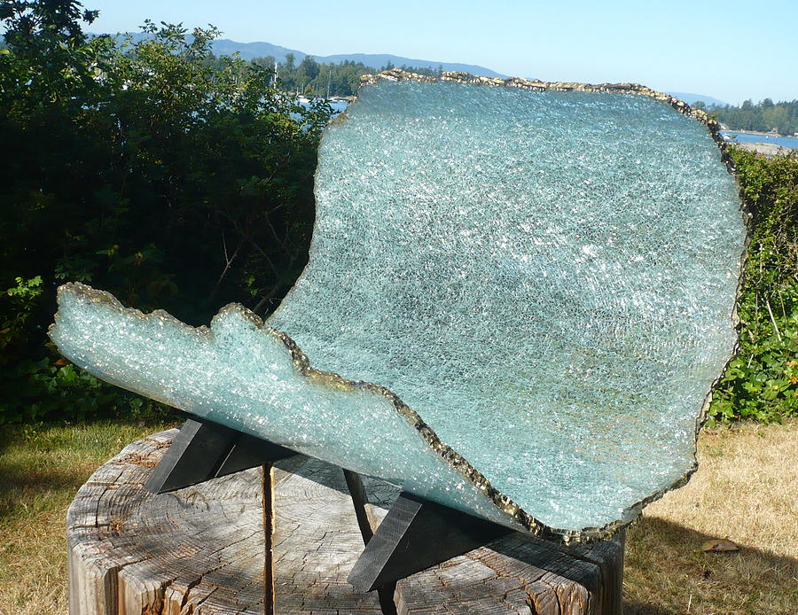 Glass Sculptures Sculpture - Rogue Wave by Rick Silas