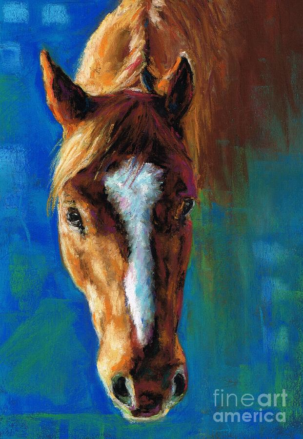 Horse Portraits Painting - Rojo by Frances Marino