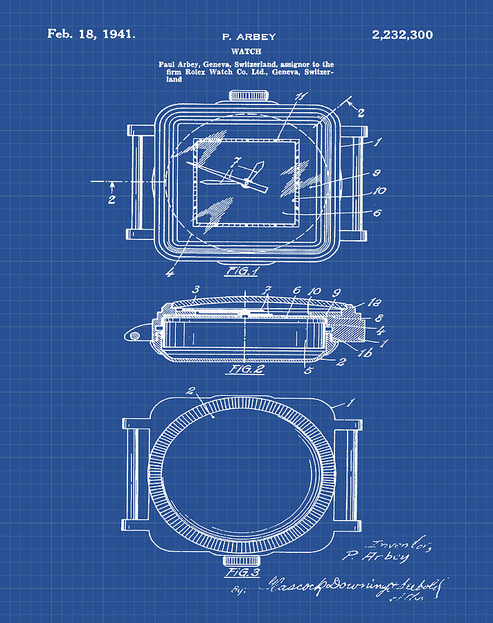 Rolex watch patent 1941 in blueprint digital art by bill cannon rolex digital art rolex watch patent 1941 in blueprint by bill cannon malvernweather Choice Image