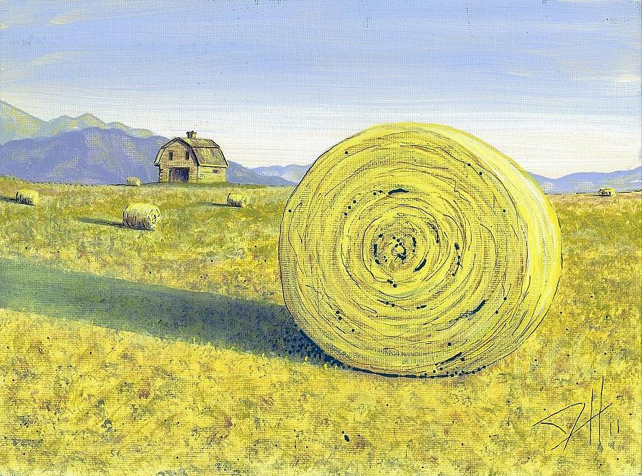 Landscapes Painting - Roll Away The Dew by Dave Herrling