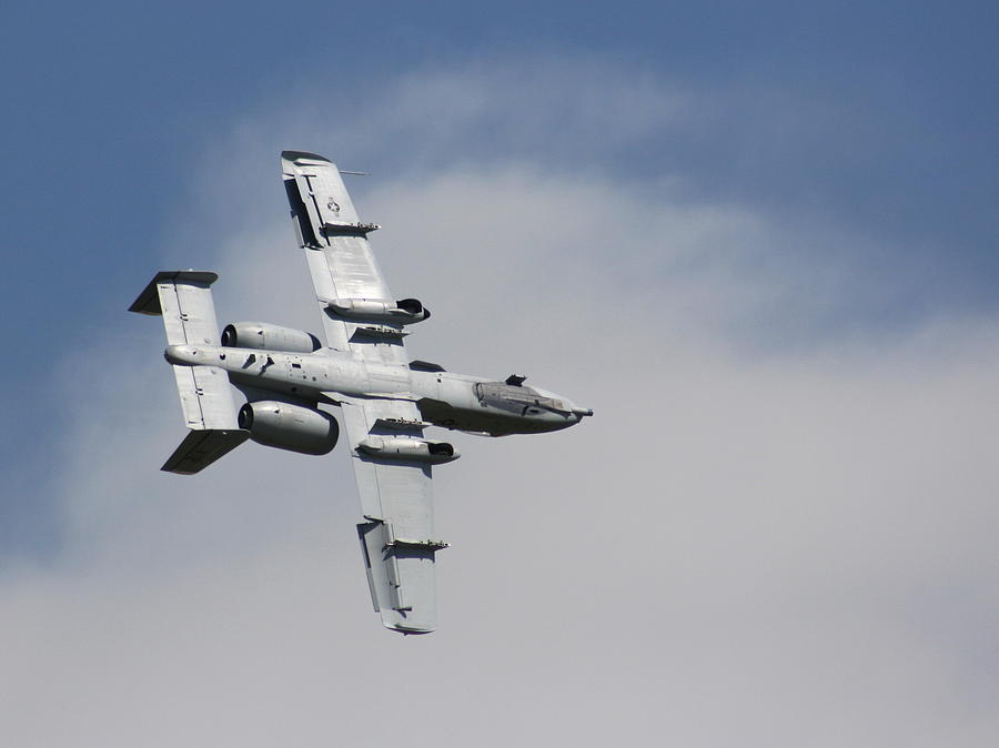 Airplane Photograph - Roll Over Wafb 09 A10 Thunderbolt 2 by David Dunham