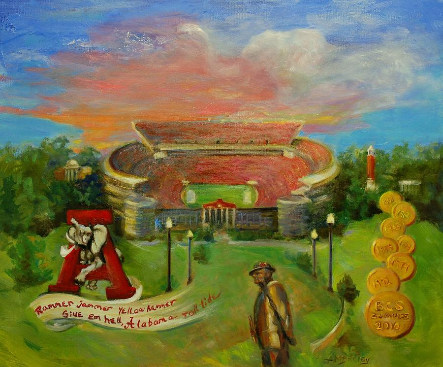 Roll Tide Painting - Roll Tide by Ann Bailey