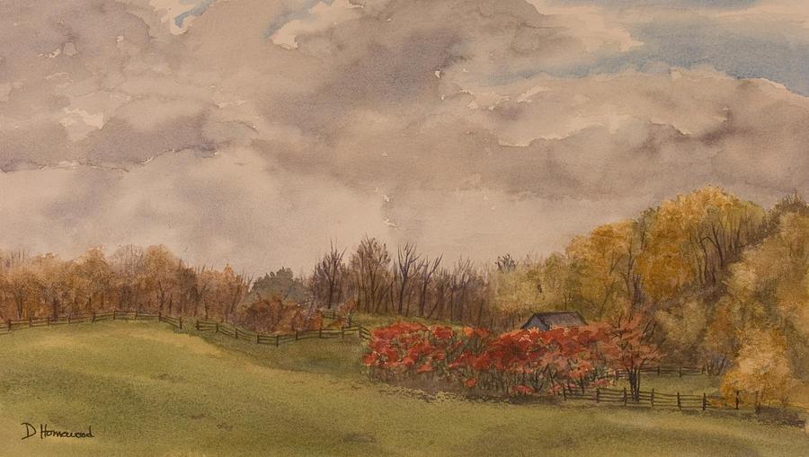Fields Painting - Rolling Fields In The Fall by Debbie Homewood