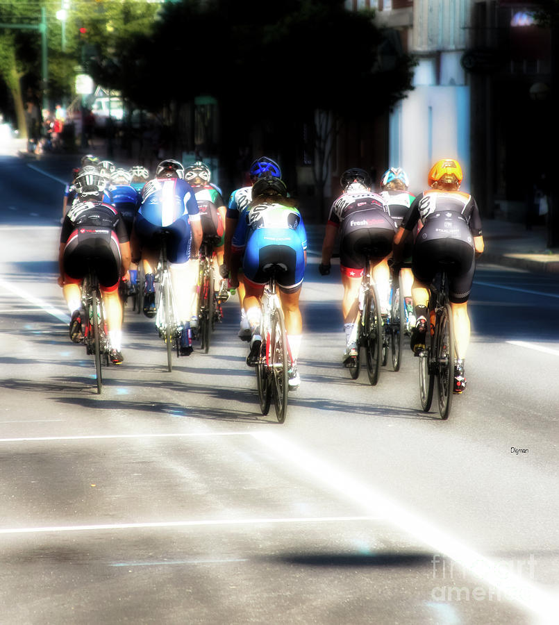Bicycle Photograph - Rolling Heat  by Steven Digman