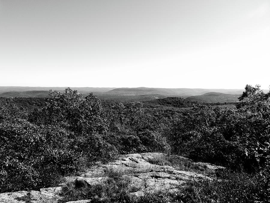 Monochrome Photograph - Rolling Hills by Eric Radclyffe