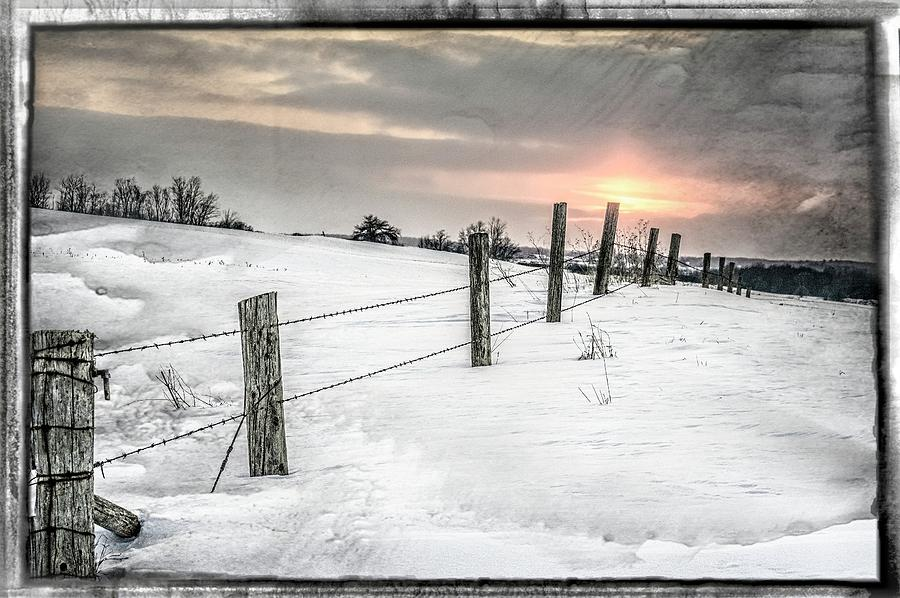 Winter Photograph -  Rolling Hills by Garvin Hunter