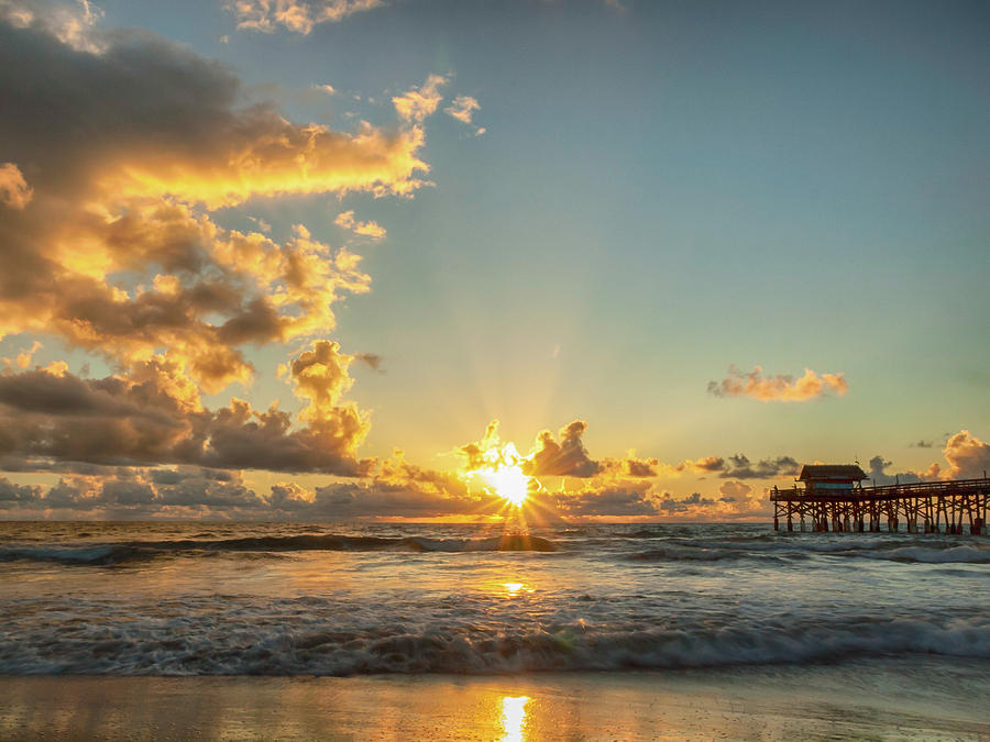 Sunrise Photograph - Rolling In by Rob Wilson