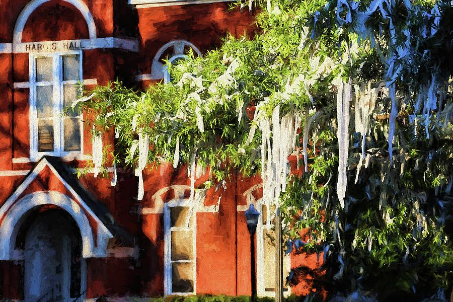 Auburn University Photograph - Rolling Toomers and Hargis Hall by JC Findley