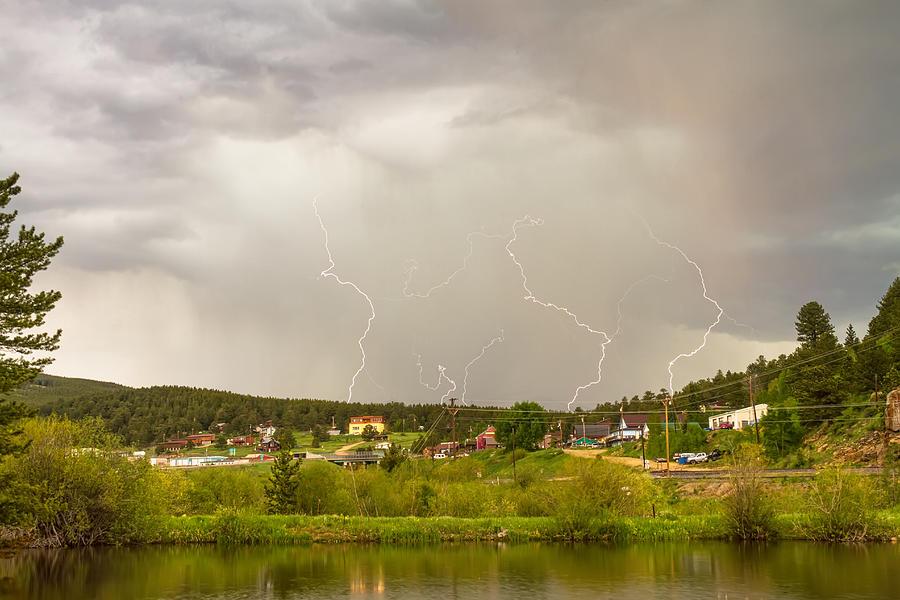 Rollinsville Colorado Lightning Thunderstorm Photograph