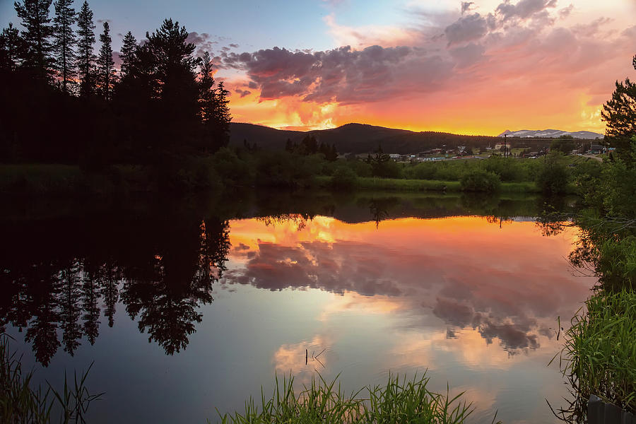 Rollinsville Sunset Reflections Photograph