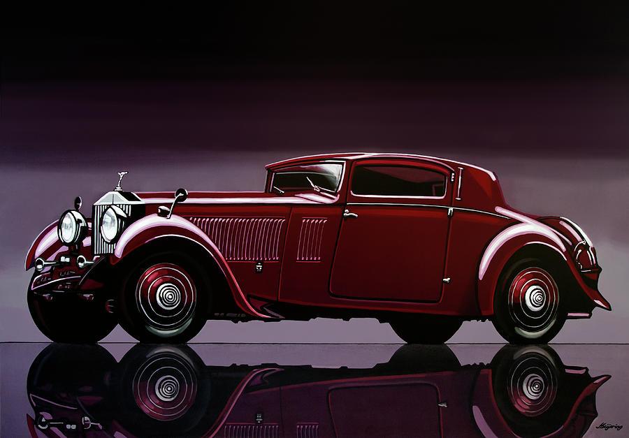 Rolls Royce Painting - Rolls Royce Phantom 1933 Painting by Paul Meijering