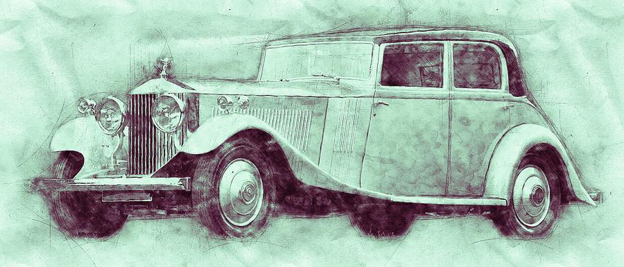 Rolls-royce Phantom 3 - Luxury Car - 1925 - Automotive Art - Car Posters Mixed Media
