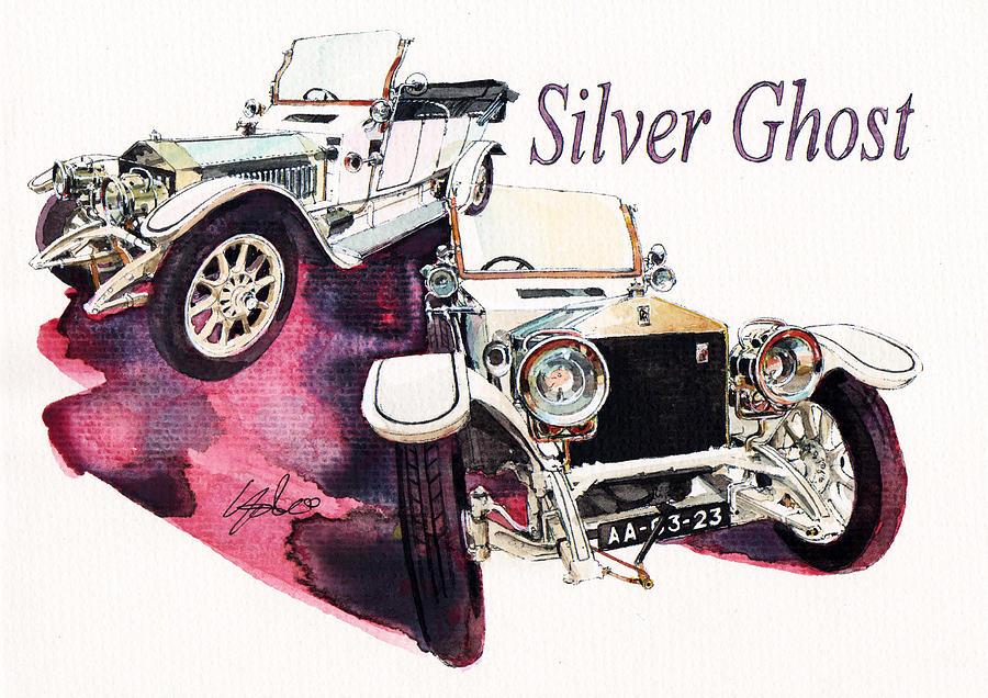 Rolls Royce Silver ghost                          Painting by Yoshiharu Miyakawa