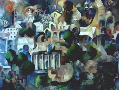 Roma Appunti Di Viaggio Painting by Alexander Luigi Di Meglio