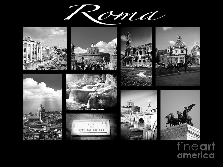 Roma Photograph - Roma Black And White Poster by Stefano Senise