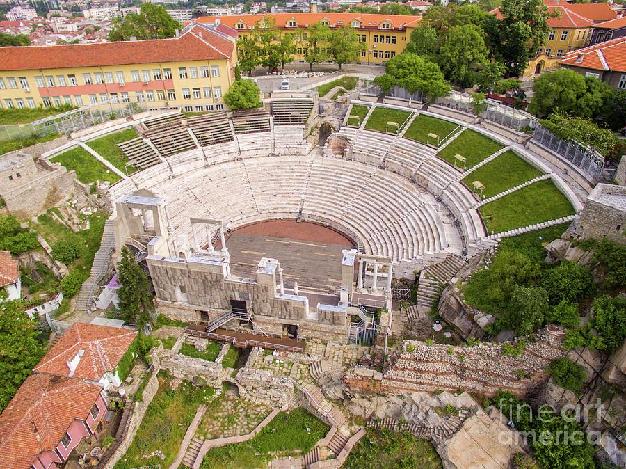 Above Photograph -  Roman Amphitheater In Plovdiv by Nikolay Stoimenov