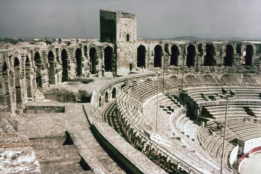 1st Century Photograph - Roman Amphitheatre, Arles by Granger