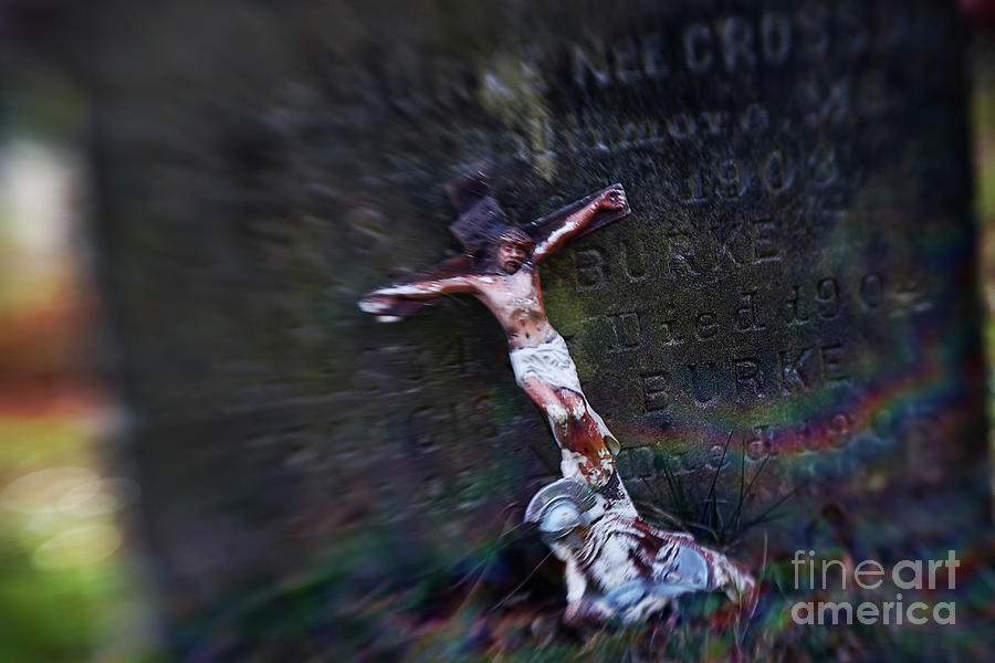 Cross Photograph - Roman And Crucifix by Susan Isakson