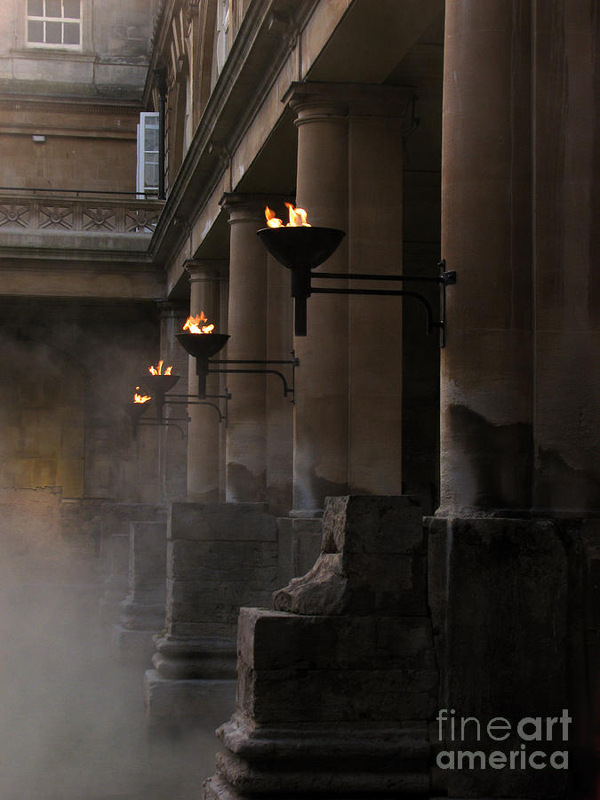 Bath Photograph - Roman Baths by Amanda Barcon