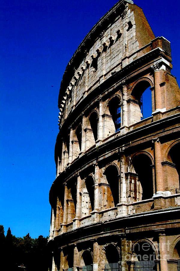 Roman Photograph - Roman Coliseum By Day by Alberta Brown Buller