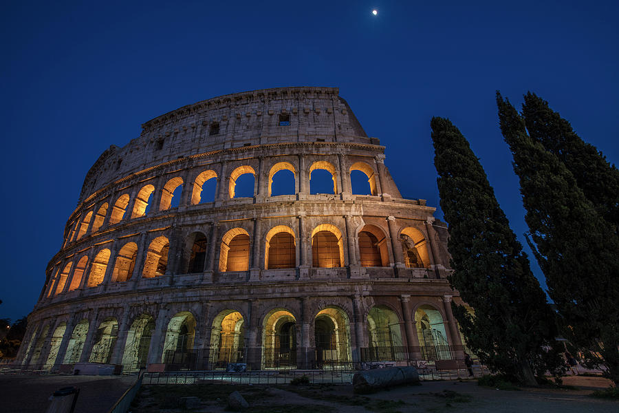 Roman Coliseum in the Evening  by John McGraw