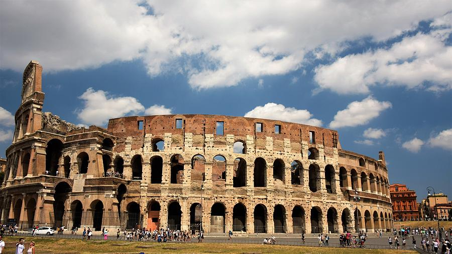 Colosseum Photograph - Roman Colosseum, Rome Italy by Ron Bartels