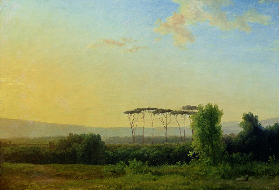 Roman Painting - Roman Countryside by Pierre Henri de Valenciennes