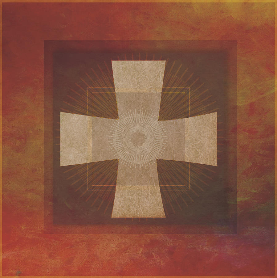 Roman Cross 8 Digital Art By Terry Davis