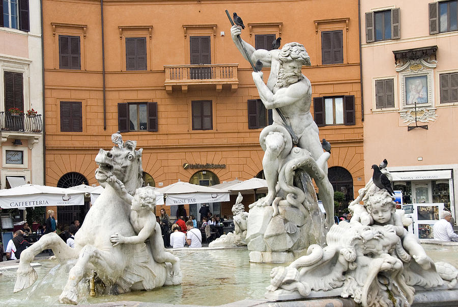 Rome Photograph - Roman Fountain by Charles  Ridgway