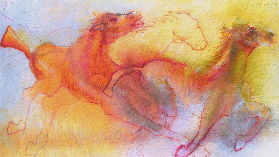 Roman Horses Painting by Cameron Hampton P S A