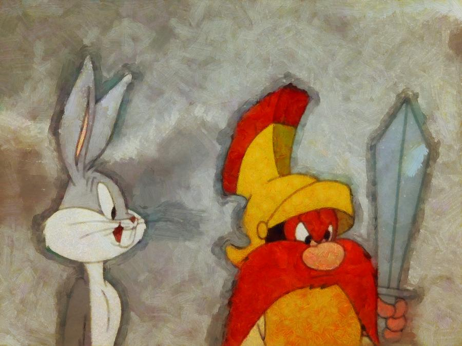 Bugs Bunny Digital Art - Roman Legion Hare by Mario Carini