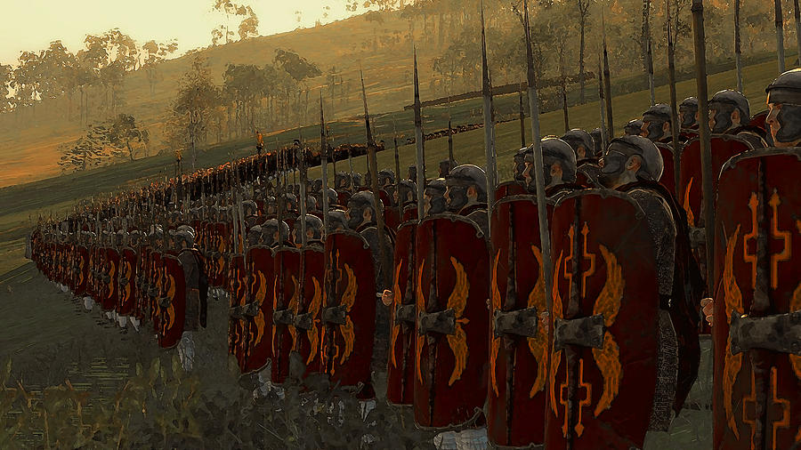 Roman Painting - Roman Legion In Battle - Ancient Warfare by AM FineArtPrints