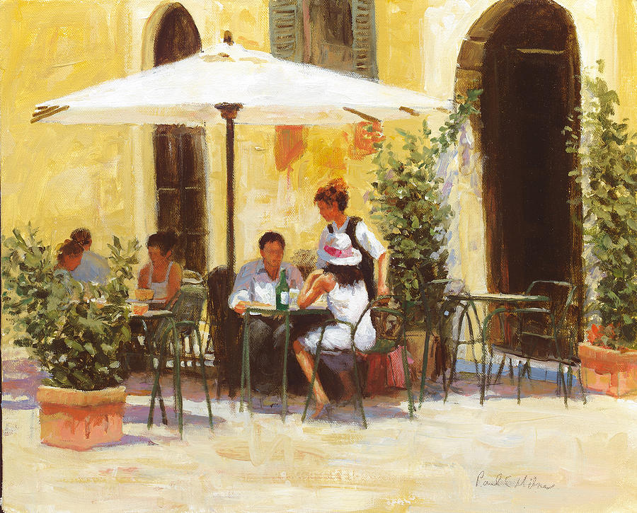 Impressionism Painting - Roman Lunch by Paul Milner