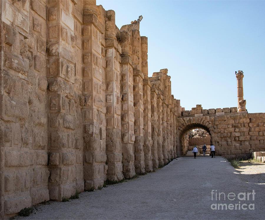 Jordan Photograph - Roman Ruins At Jerash, Jordan  by Mae Wertz