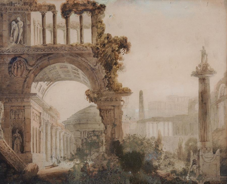 Image result for ruins in renaissance painting