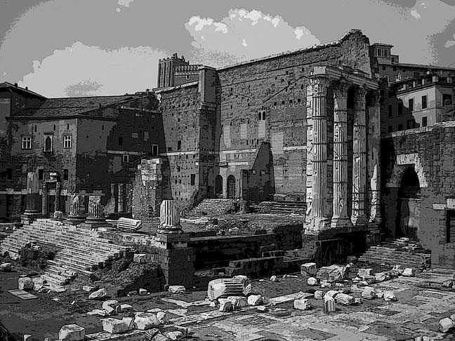 Roman Ruins Digital Art by James Hakun