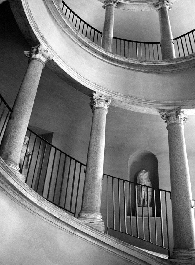 Italy Photograph - Roman Staircase by Donna Corless