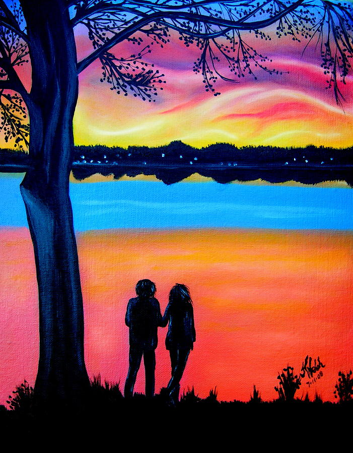 Bay Painting - Romance On The Bay by Kathern Welsh