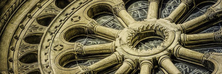 Romanesque Wheel Photograph