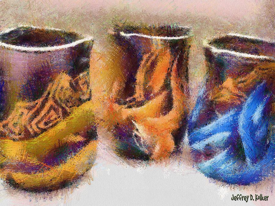 Romania Painting - Romanian Vases by Jeff Kolker