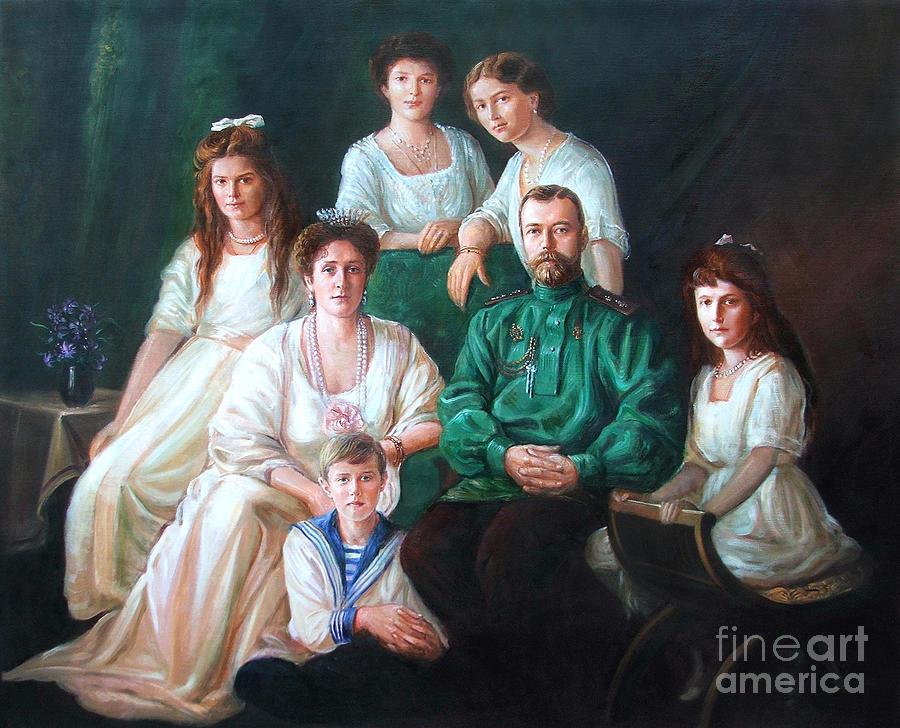 Romanov Family Painting - Romanov Family Portrait by George Alexander
