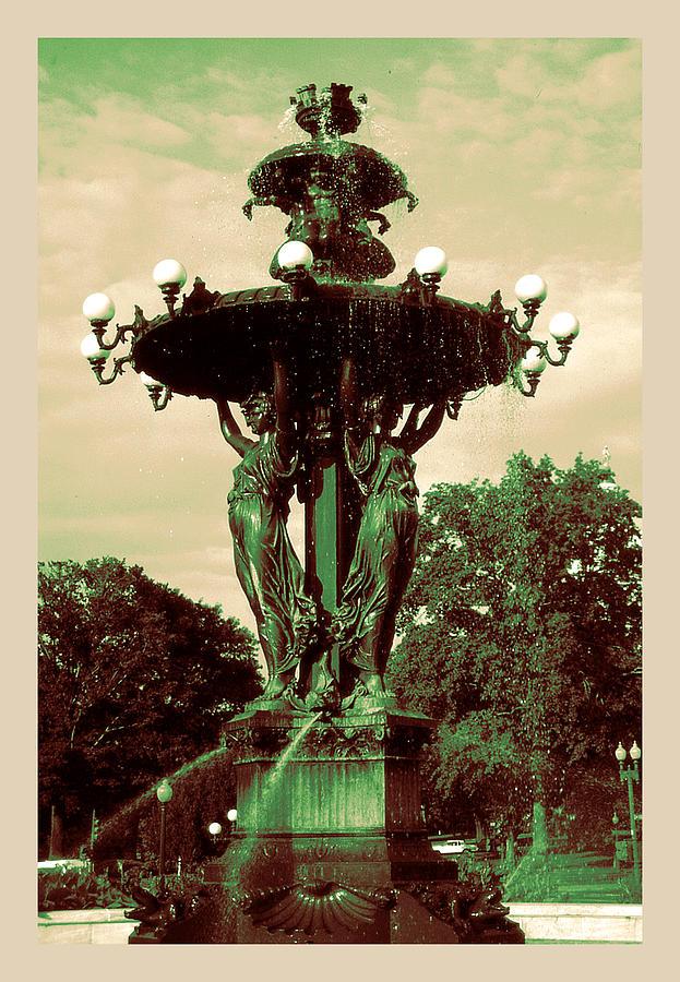 Romantic 19th Century Fountain - Washington DC by Peter Potter