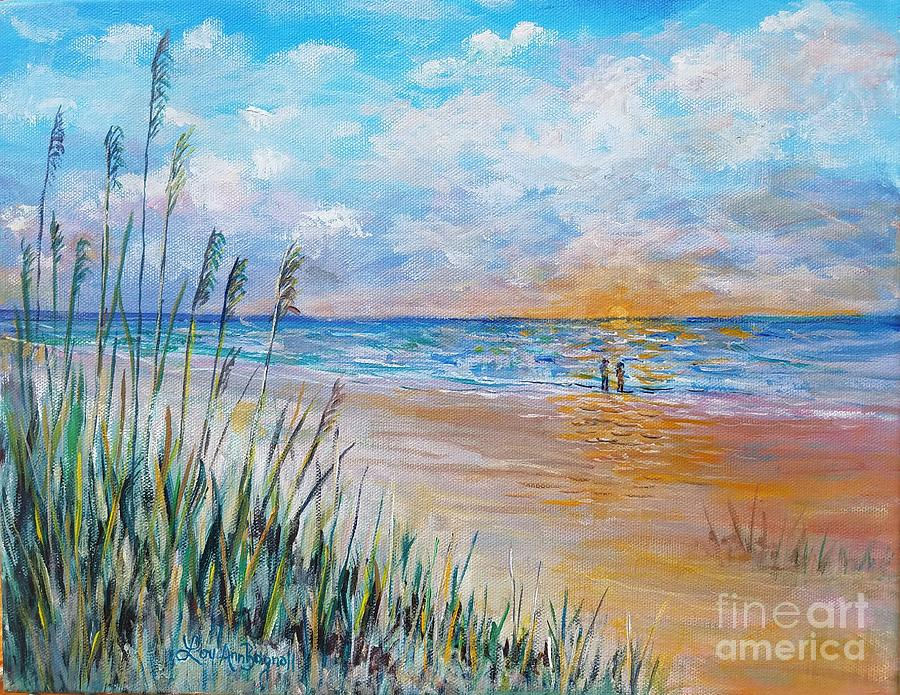 Longboat Key Painting - Romantic Beach by Lou Ann Bagnall