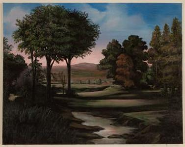 Romantic Italian Landscape Painting by Joseph Greenawalt