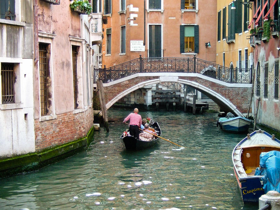 Venice Photograph - Romantic Journey by Carl Jackson