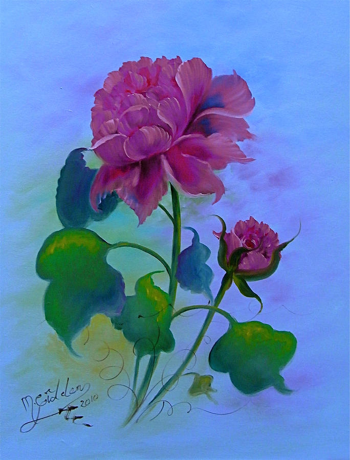 Romantic Peoni Painting by Micheal Giddens