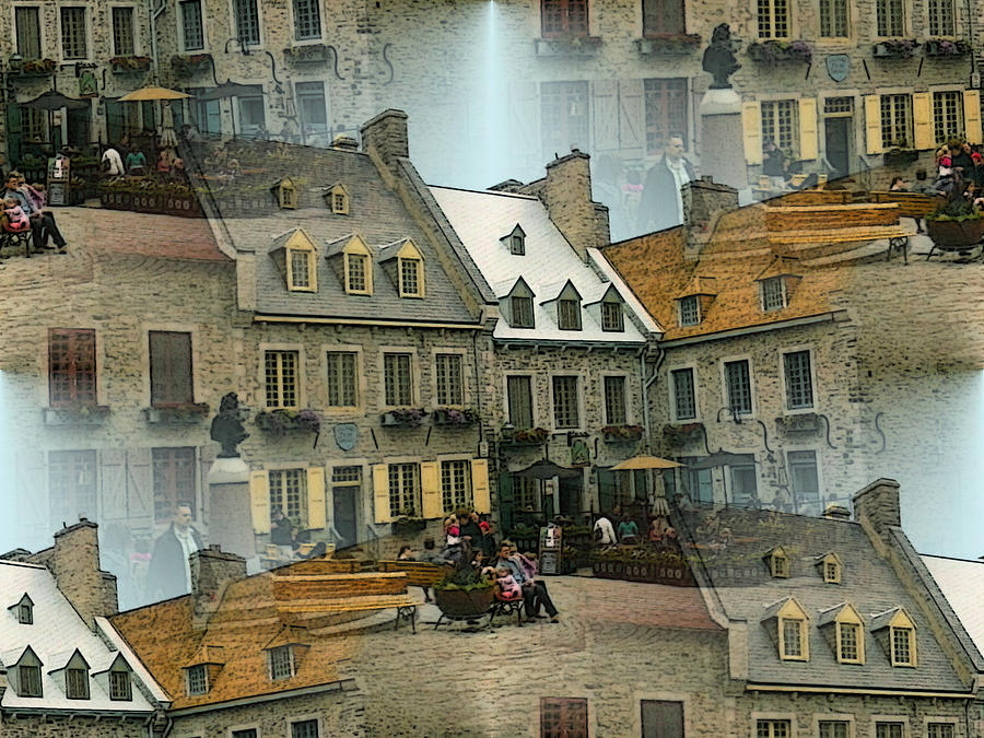 Romantic Quebec City Collage by Peter Potter