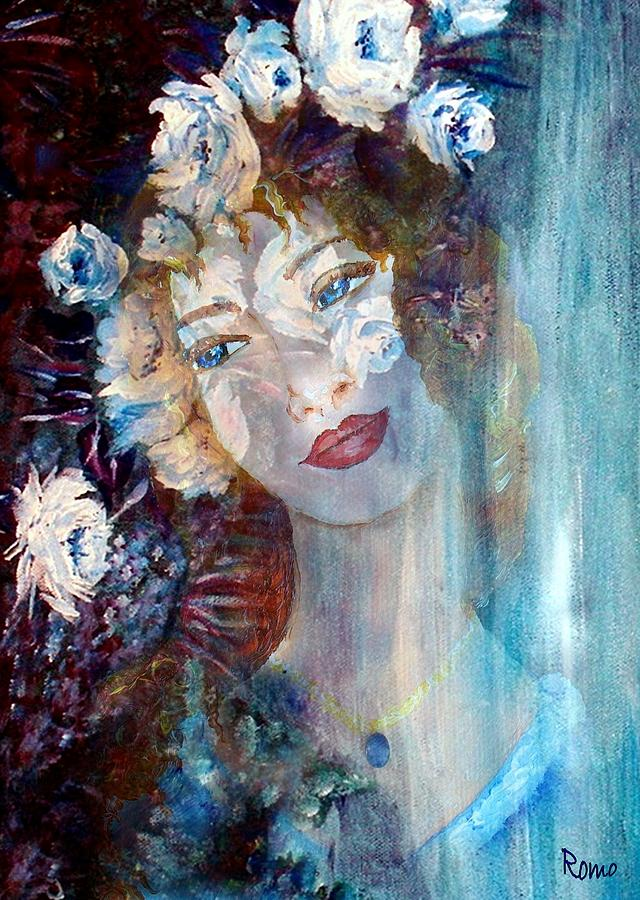 Face Mixed Media - Romantic by Robin Monroe