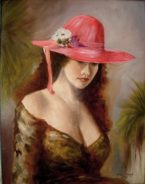 Portrait Painting - Romantic Women. by Margaret  Greczi