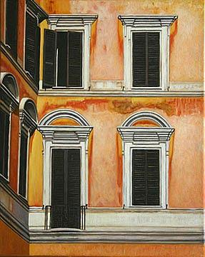 Architecture Painting - Rome-late Afternoon by Stephen Degan